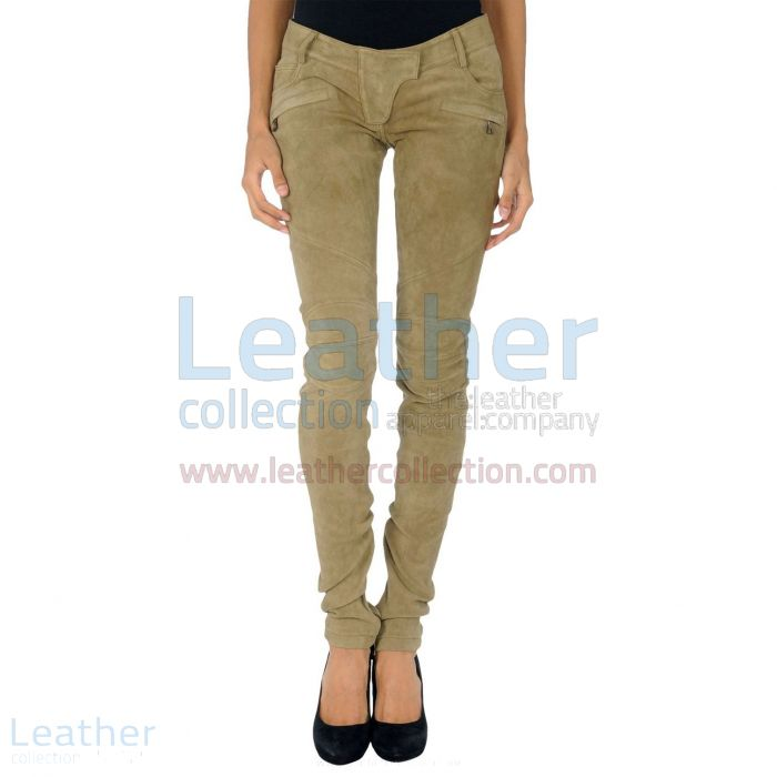 Suede pants womens