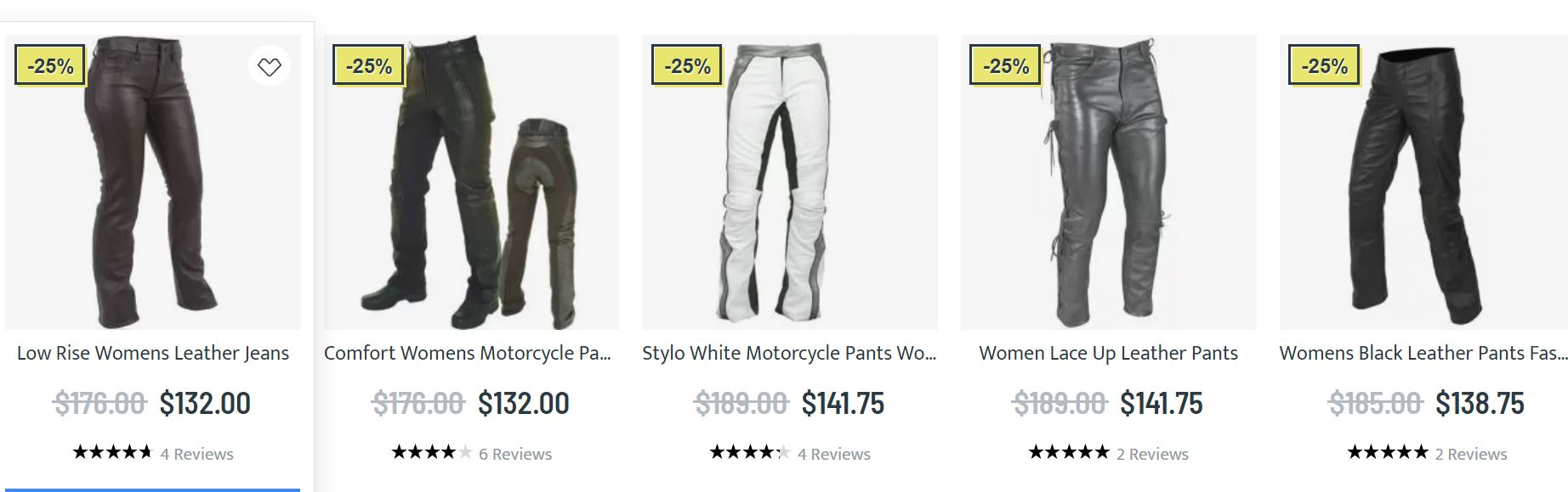 Leather Jeans Womens