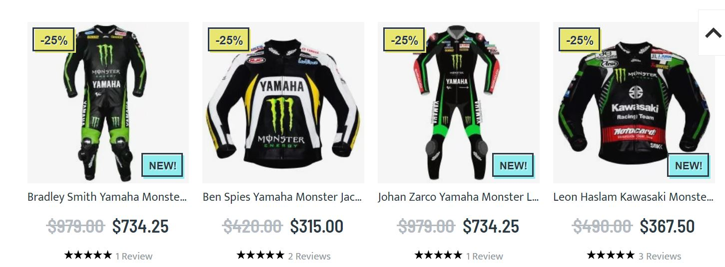 Yamaha monster energy clothing
