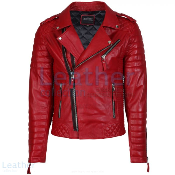 Red leather jacket men