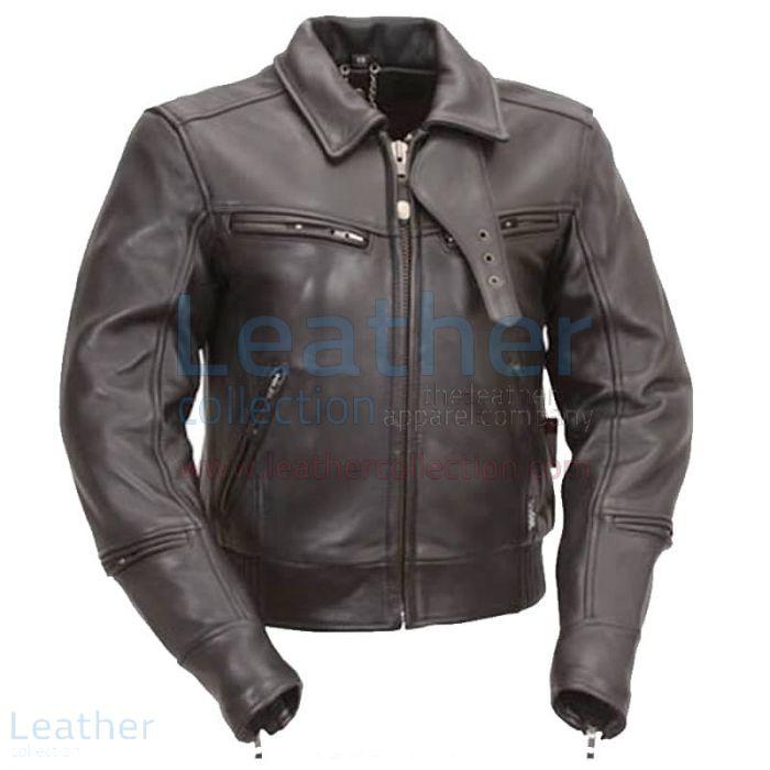 Premium leather biker