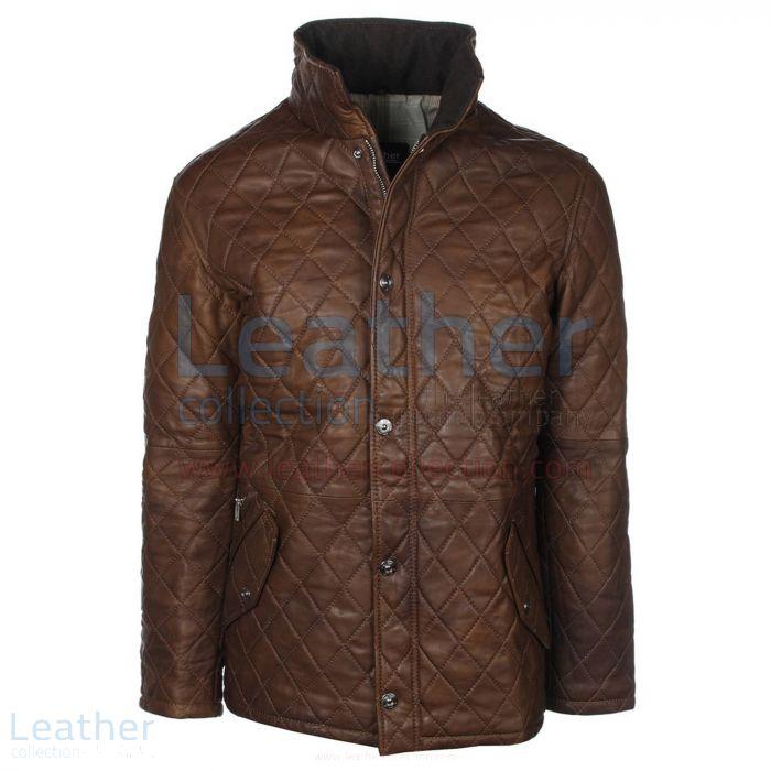 Diamond leather jacket