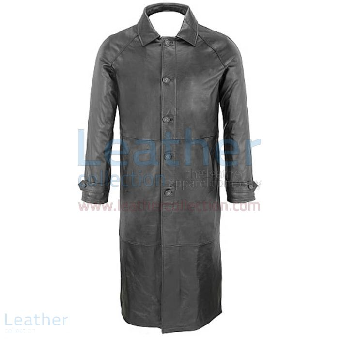 Leather trench coat mens