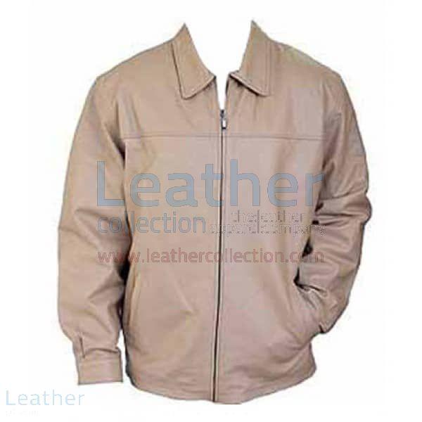 beige leather jacket mens