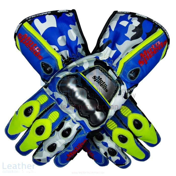 BLUE CAMO GLOVES JOAN MIR MOTOGP 2019
