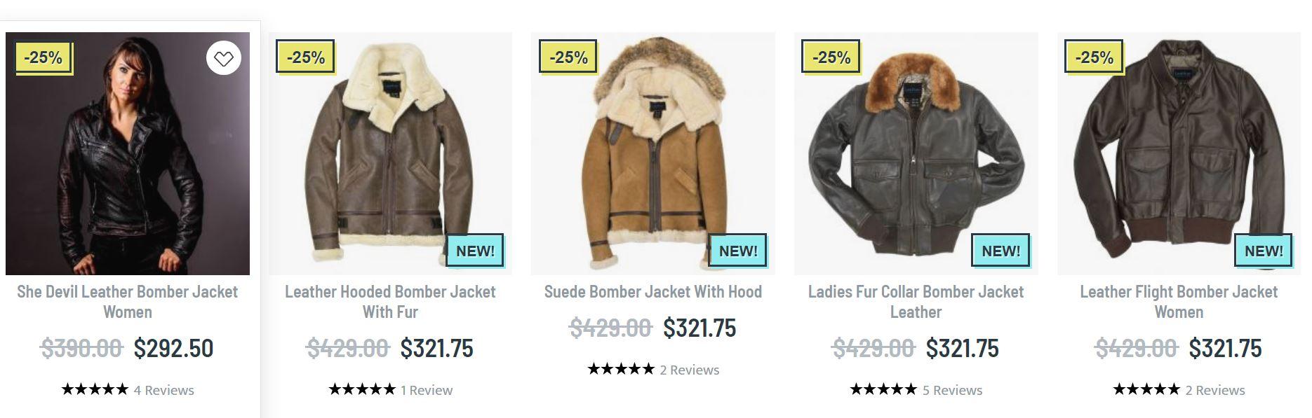 Leather bomber jacket women