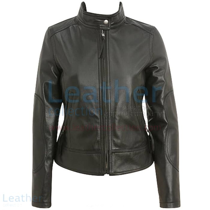 Collarless jacket womens