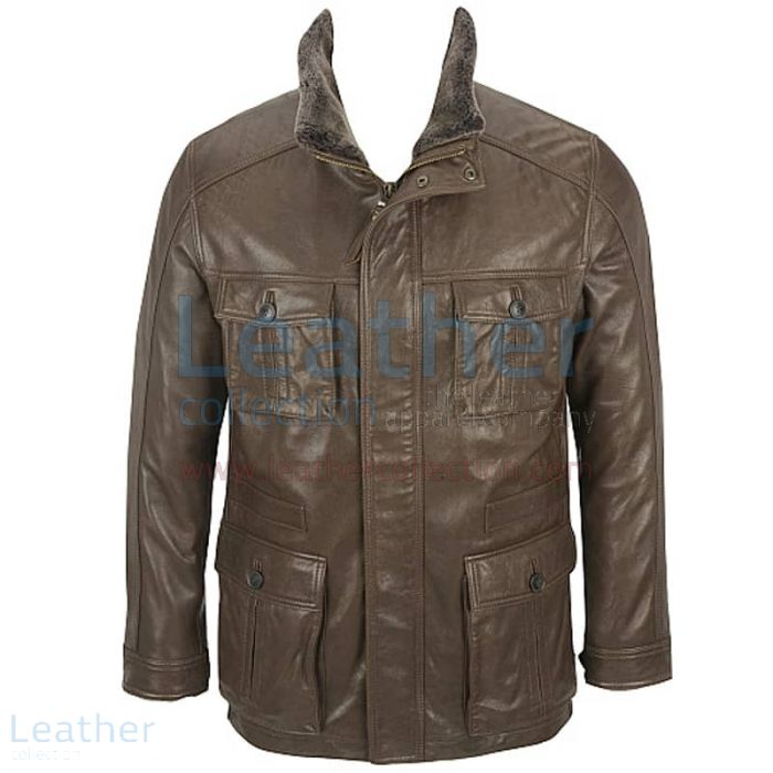 Bikers leather jacket mens