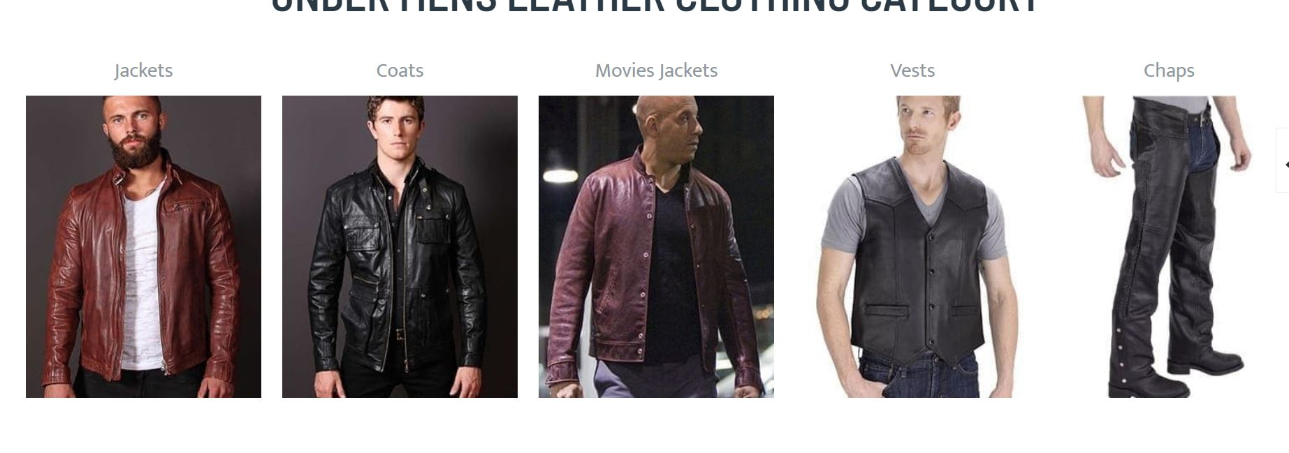 Mens leather fashion