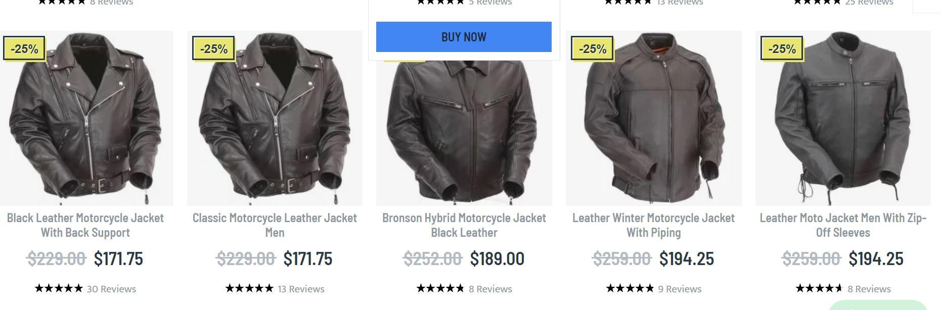 Biker leather jacket men