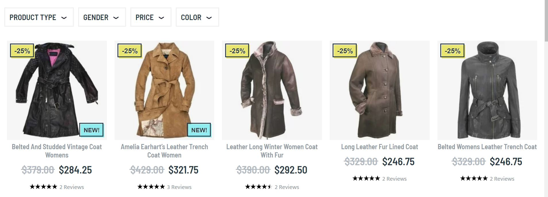 Womens leather duster coat