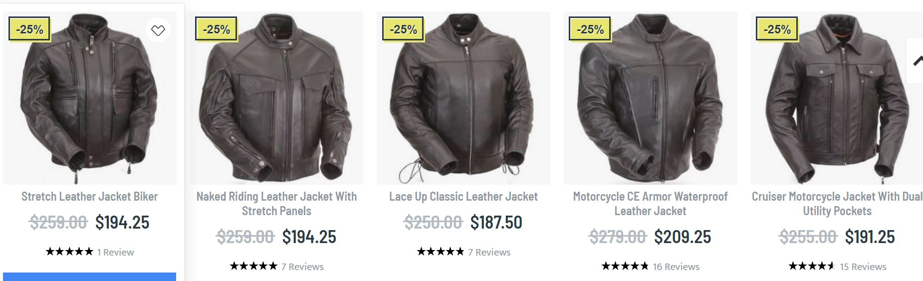 Mens leather bikers jacket