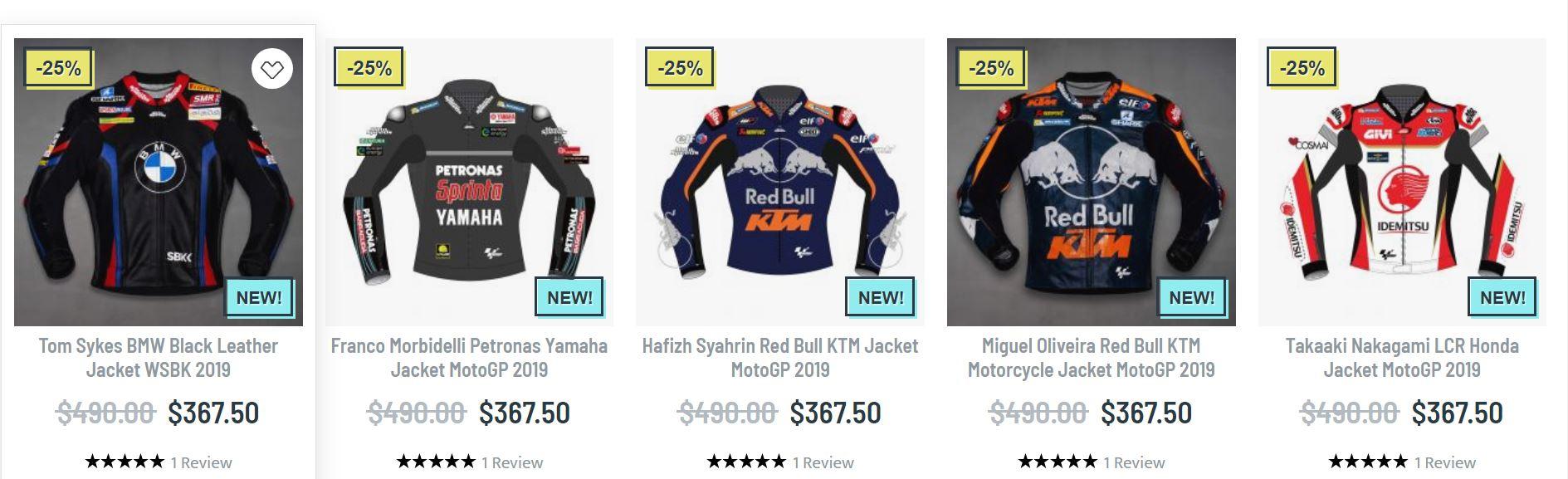 Motogp racing jackets