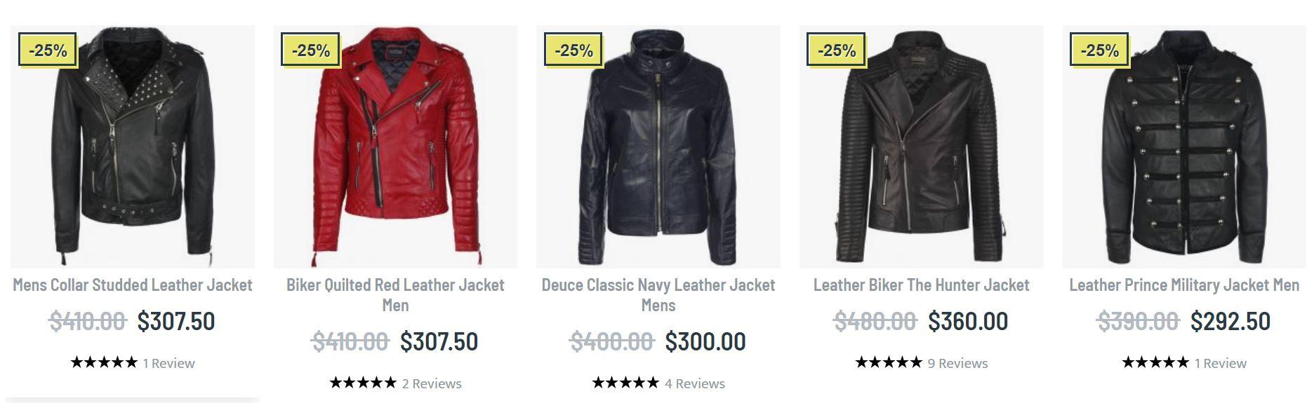 Leather jackets mens biker
