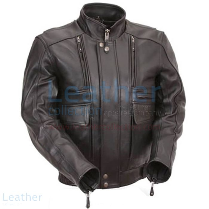 Stretch leather jacket