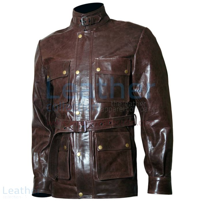 Benjamin button leather jacket
