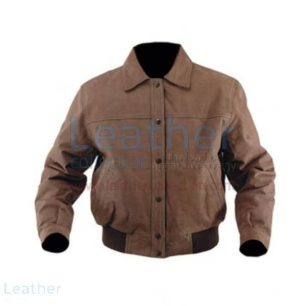 Nubuck leather jacket