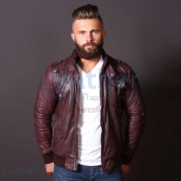 Leather bomber jacket mens