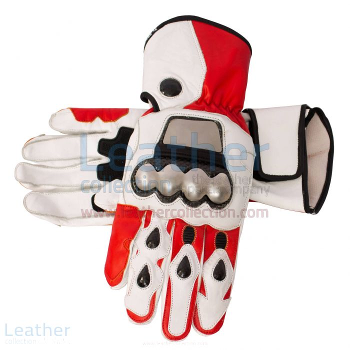 White motorcycle gloves