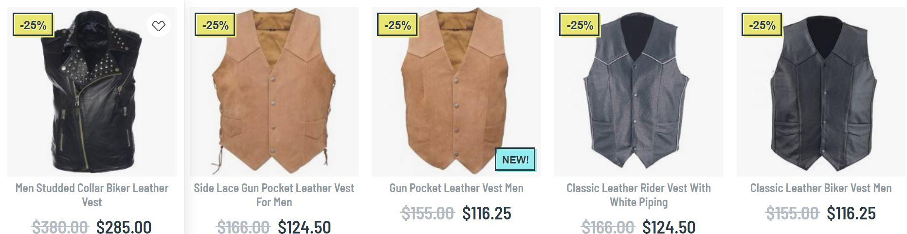 leather vest mens