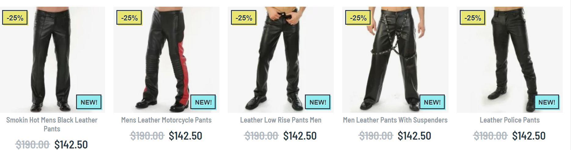 leather pants men