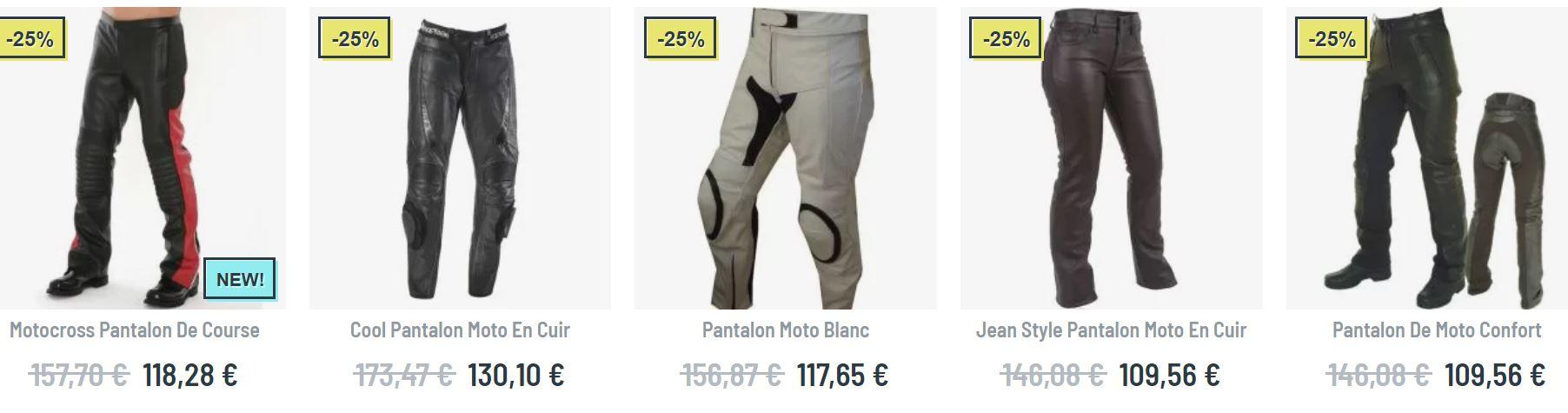 pantalon cuir moto